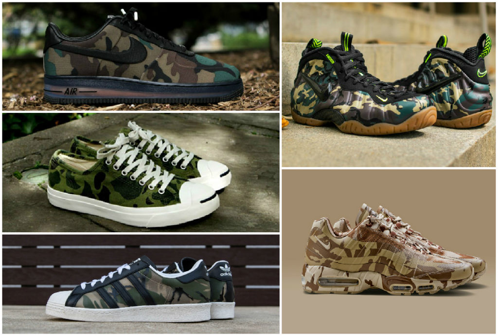 10 BEST CAMO COLOR SNEAKERS OF ALL TIME (SECOND 1)
