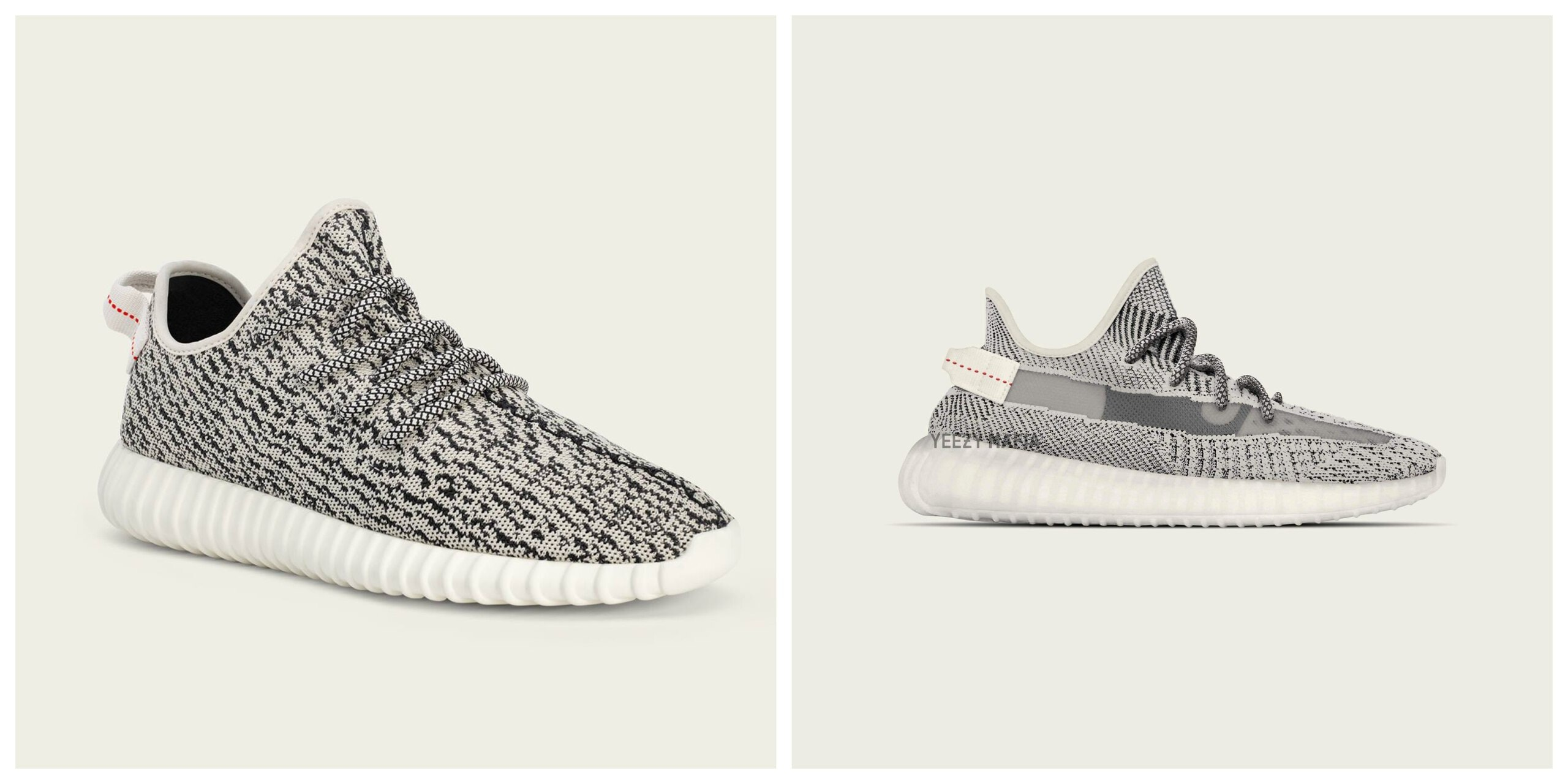 adidas Yeezy Boost: 350 V1 Turtle Dove and 350 V2 Turtle Dove - Which pair is better?