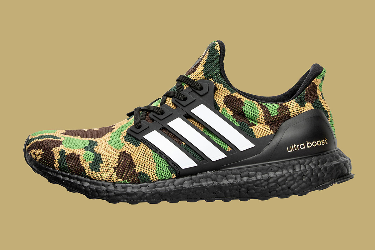 All products in the adidas X BAPE collection are coming soon