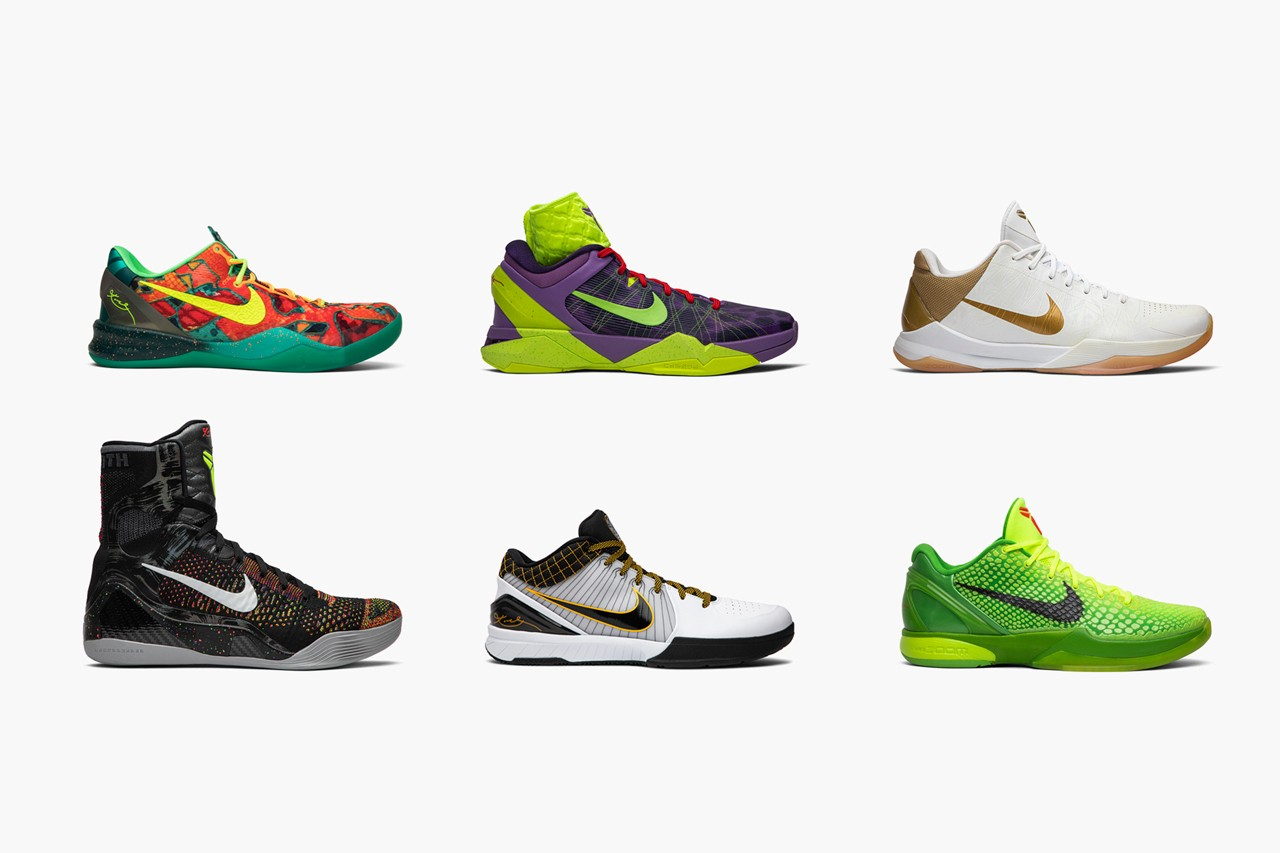 Check out the best color combinations of the Nike Kobe shoe line
