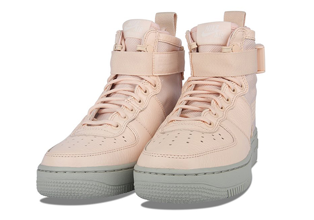 Feminine color schemes appear on the Nike SF AF1