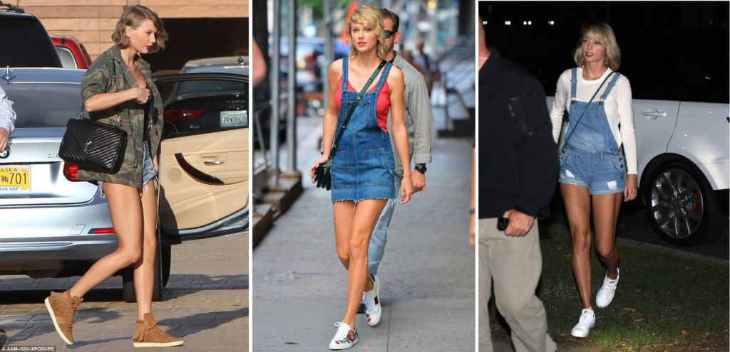 Let's see what kind of sneakers Taylor Swift likes to wear?