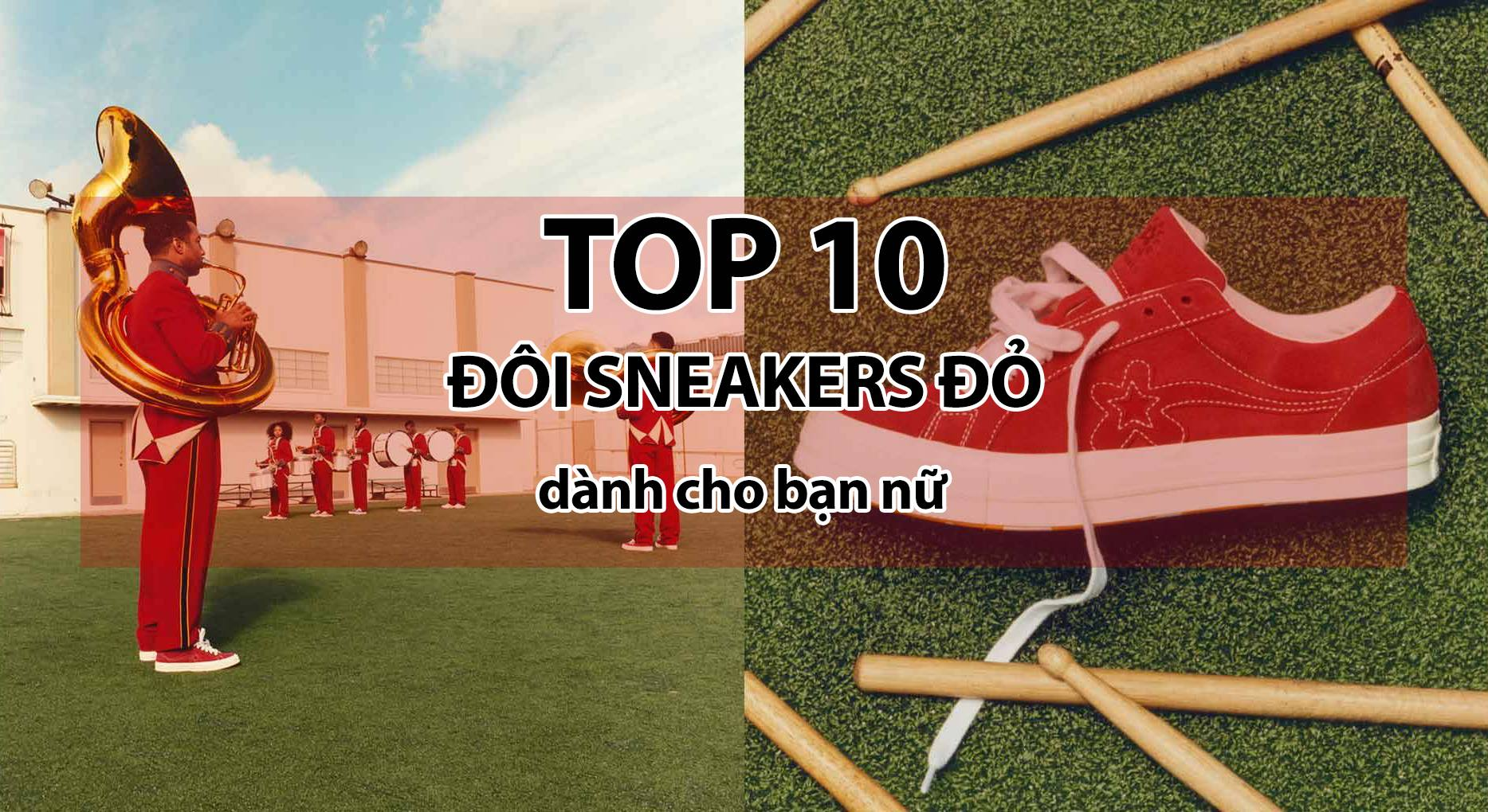 Top 10 hottest red sneakers for women in the last 3 months