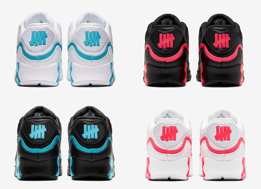 Cận cảnh 4 phối màu sắp phát hành của UNDFTD x Nike Air Max 90