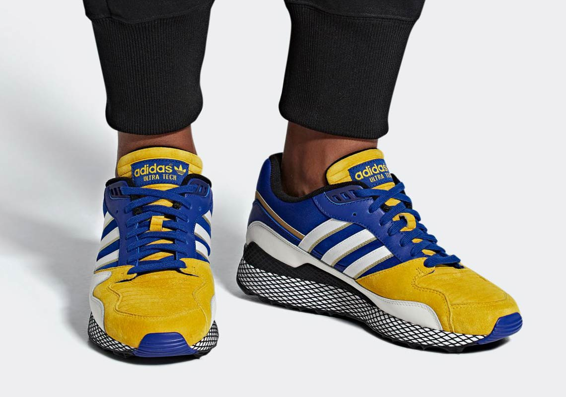 """Dragon Ball Z fans, adidas Originals Ultra Tech """"Cadic"""" color scheme will be available this November."""