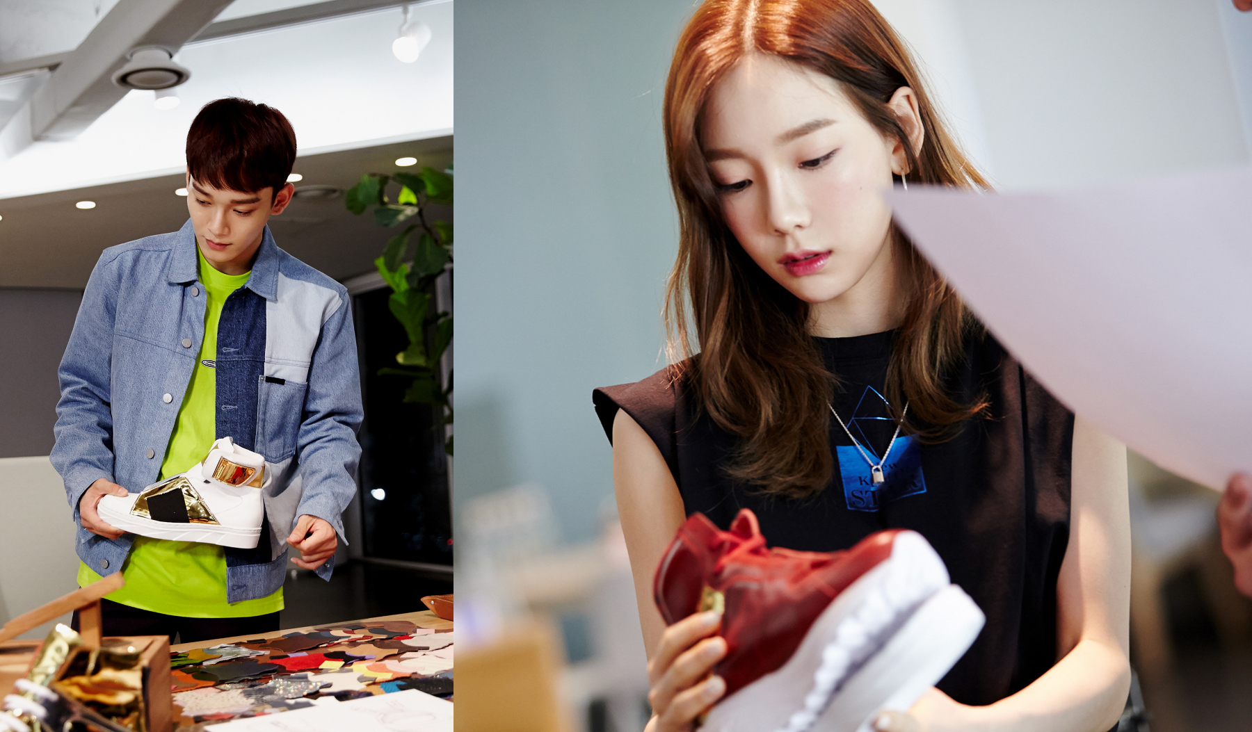 EXO & Girls' Generation launches sneakers to represent themselves