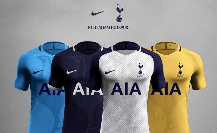 Nike Tottenham Hotspur jersey sketch