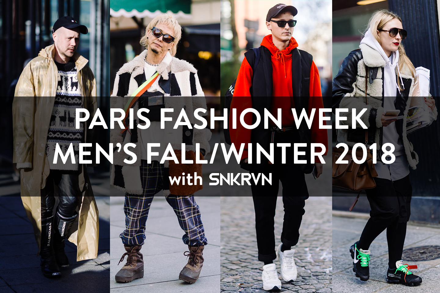 Paris Fashion Week Men's Fall / Winter 2018 - What do players in France wear on the first day?
