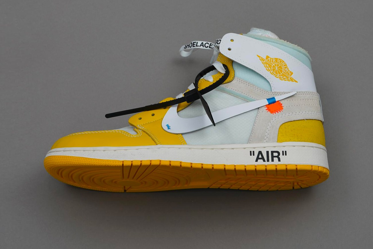 """Rumors of the release of a brand new Off-White ™ x Air Jordan 1 """"Canary Yellow"""" version"""