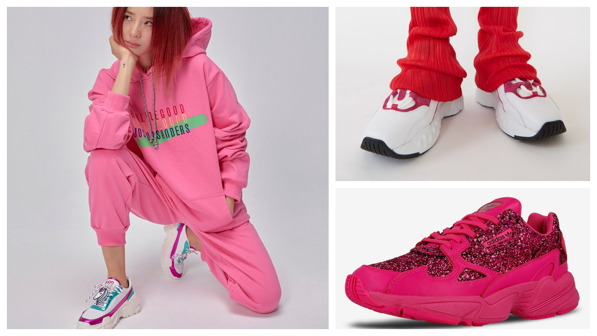 TOP pair of beautiful lotus-pink sneakers without cheesy