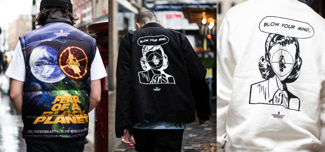 What will streetwear followers wear for the collab Supreme x Public Enemy x UNDERCOVER?